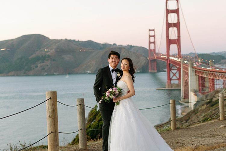San Francisco's National Park is home to the Presidio wedding Venues