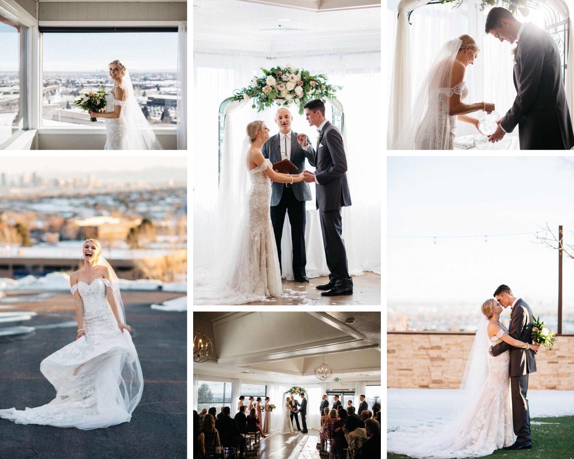 Pristine Snowy City Wedding at Brittany Hill