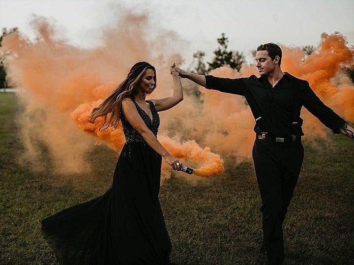 11-Smoke-Bombs-and-Pumpkins-for-an-Orange-and-Black-Halloween-Inspired-Wedding