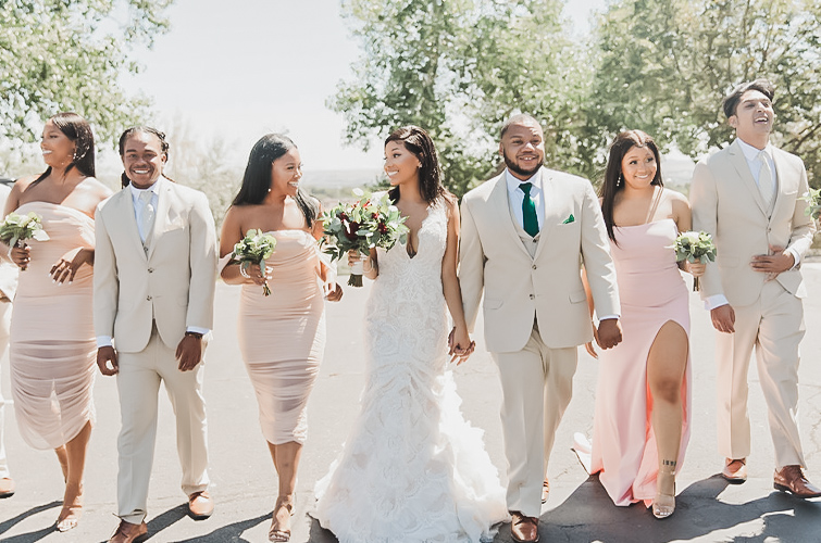 Wedding Party at Brittany Hill by Wedgewood Weddings