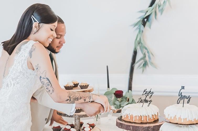 Cutting the Cake as Husband & Wife