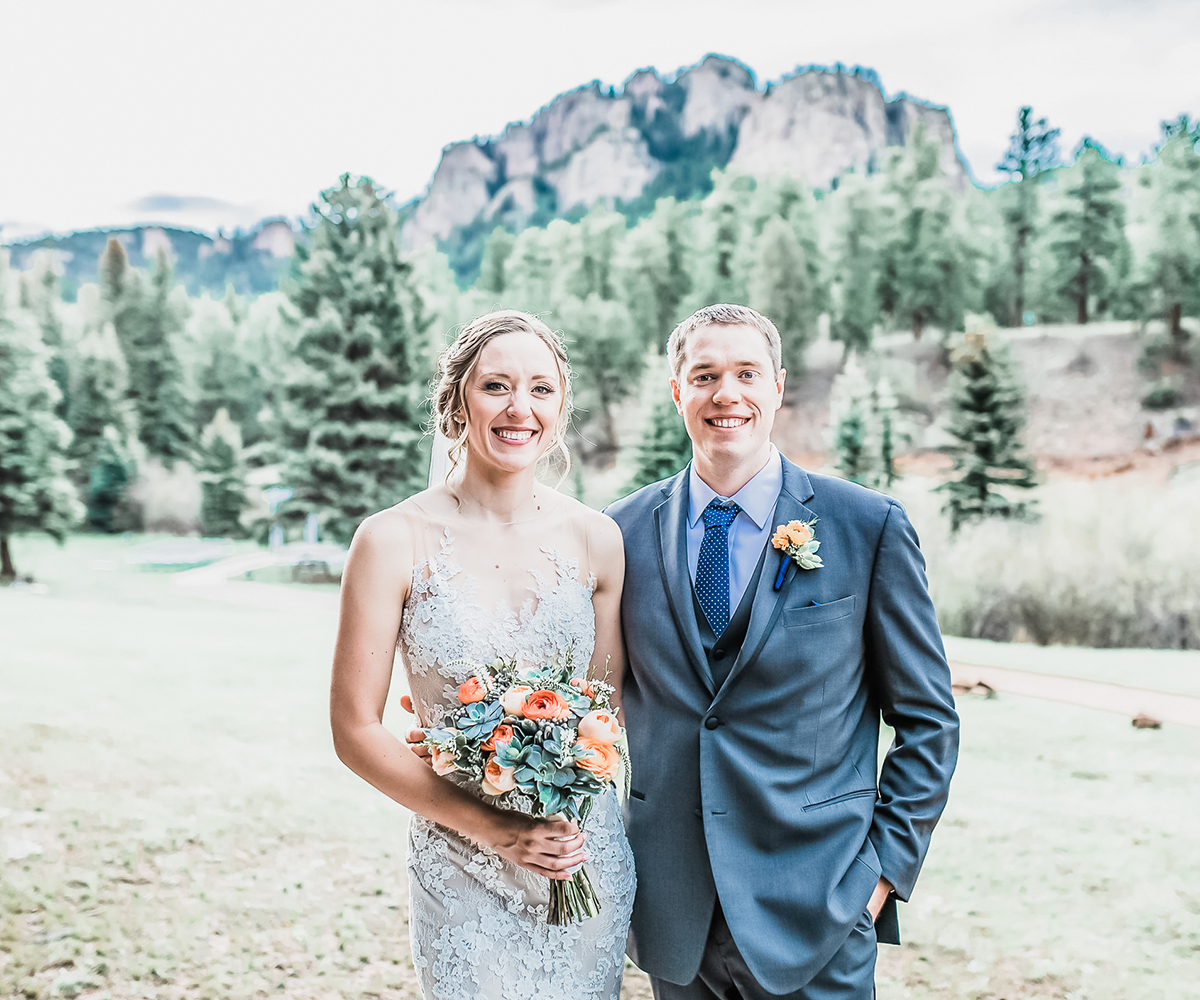 Beautiful Couple Say I Do at Mountain View Ranch