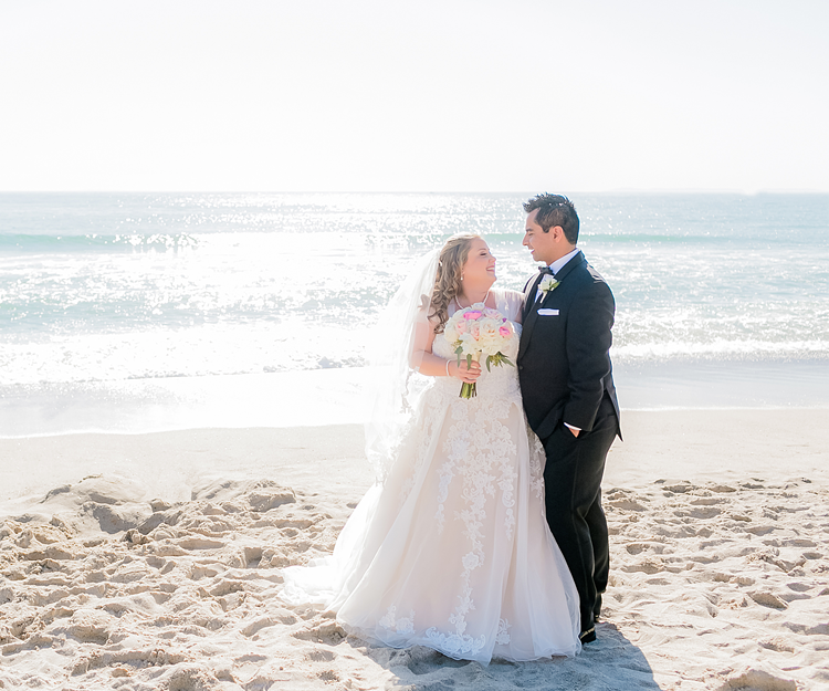 Beautiful Couple On The Sand at San Clemente Shore