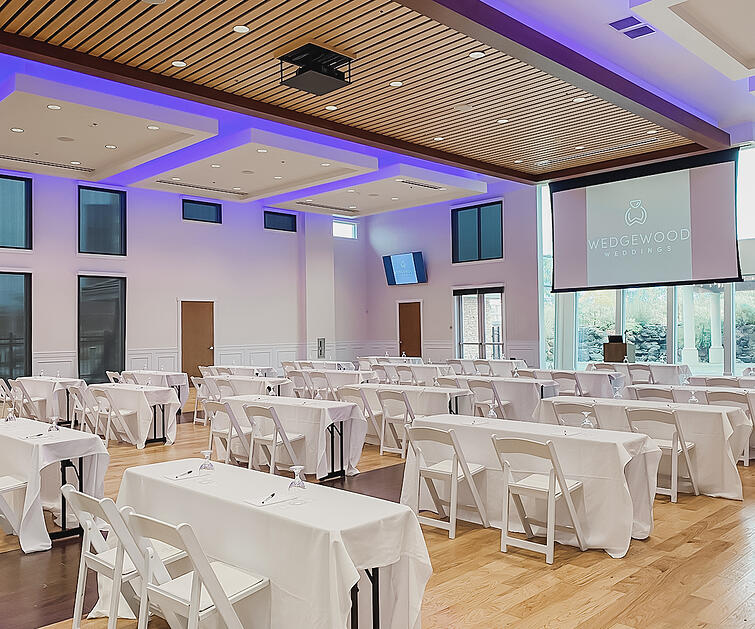 Corporate Event Setup at Union Brick by Wedgewood Events