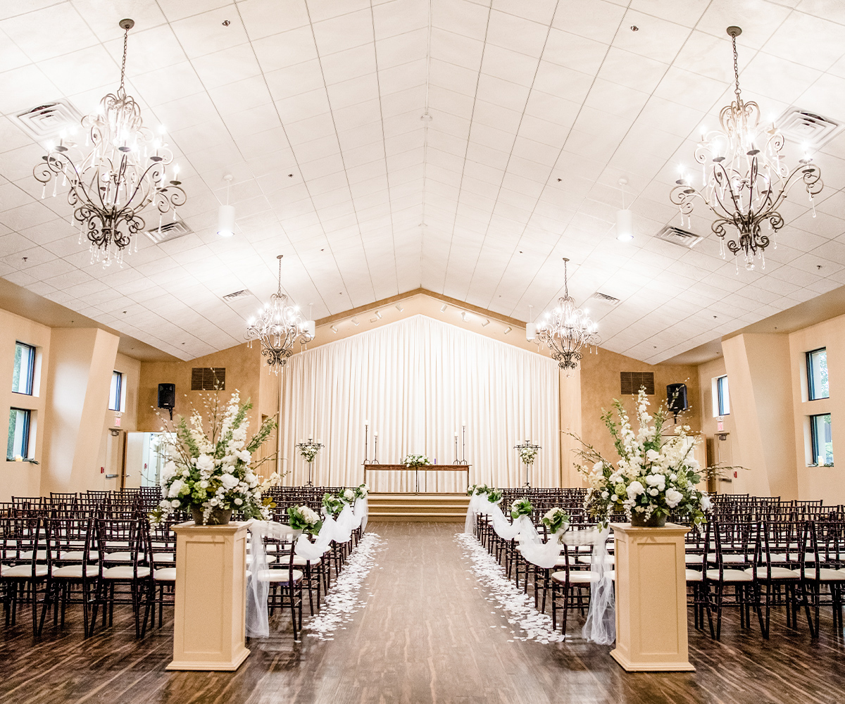 The Stunning wedding chapel at black forest combines modern amenities with exquisite fixtures
