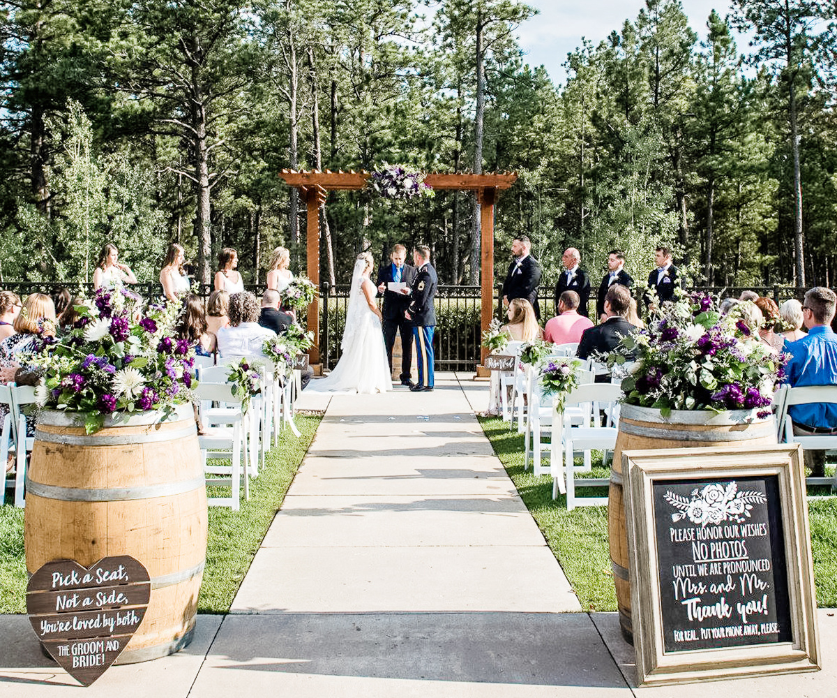 Tranquil Outdoor wedding venue at black forest, co
