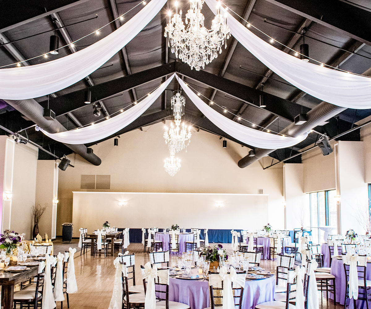 Our stunning grand ballroom at Black Forest can be styled to suit every type of special occasion