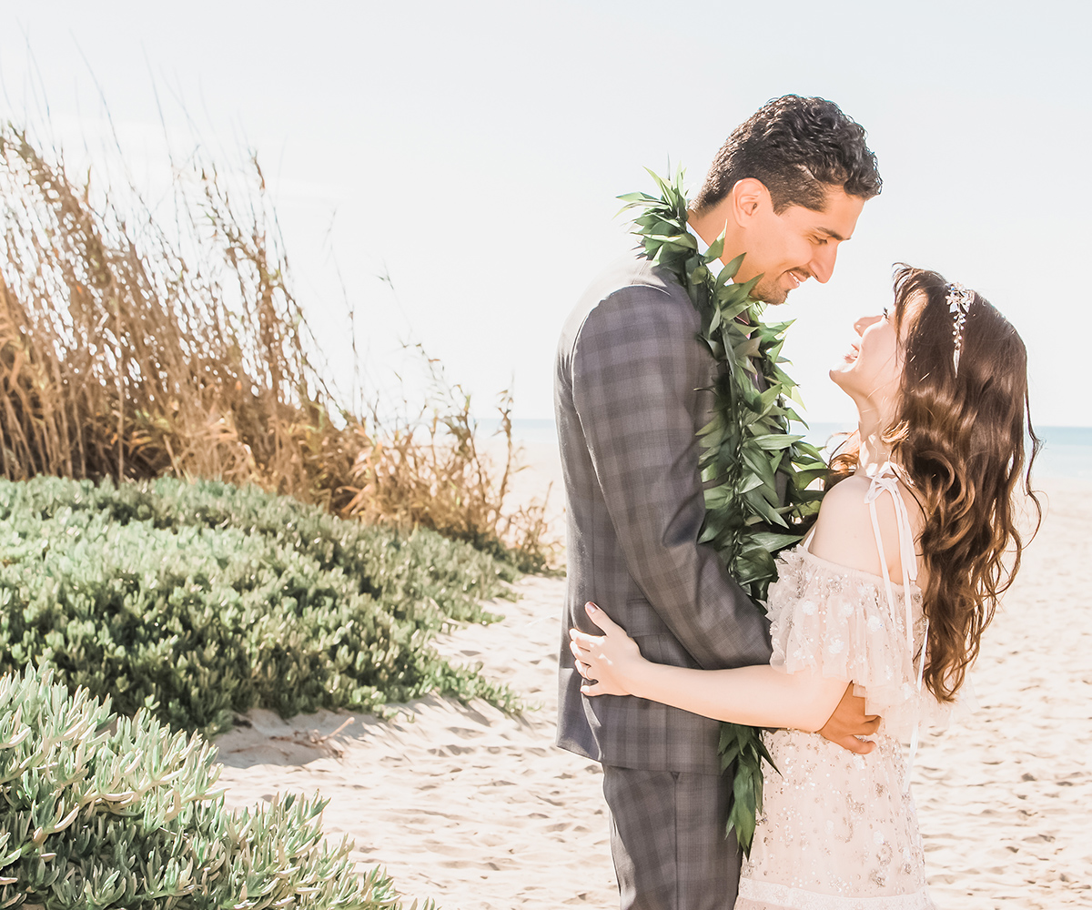 A secluded beach, love and sunshine for your wedding day dreams