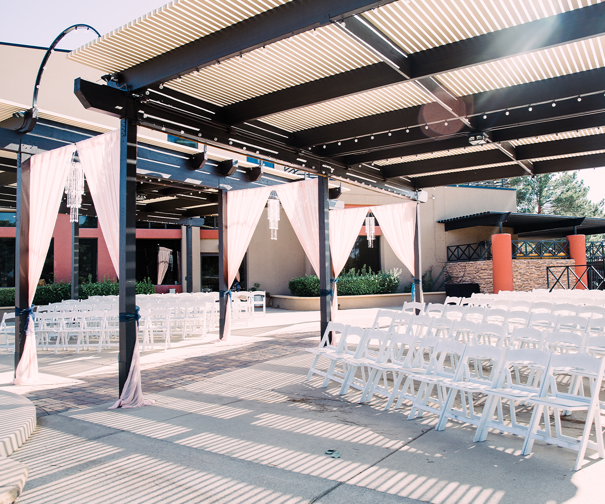 Outdoor Ceremony Option on the Terrace