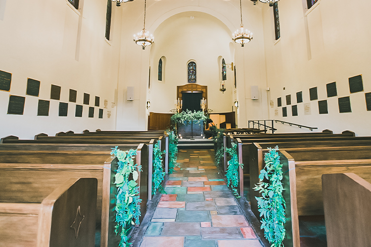 """Stunning ceremony aisle for couples to say """"I Do"""""""