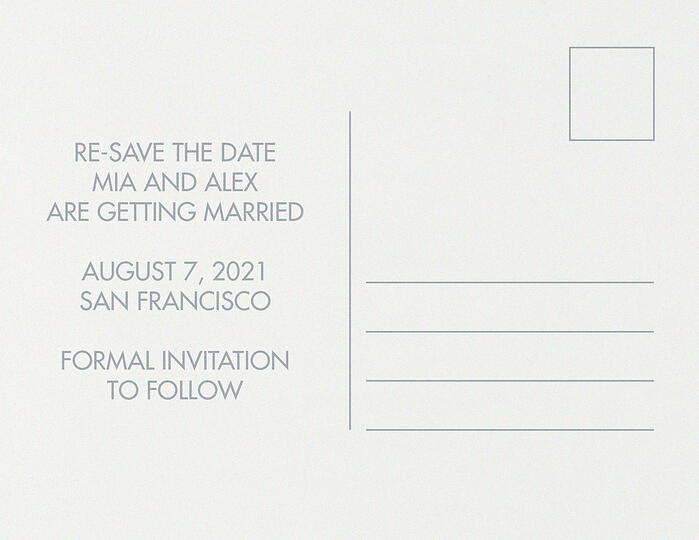 Patience | Change The Date - Back | Invitations by Wedgewood