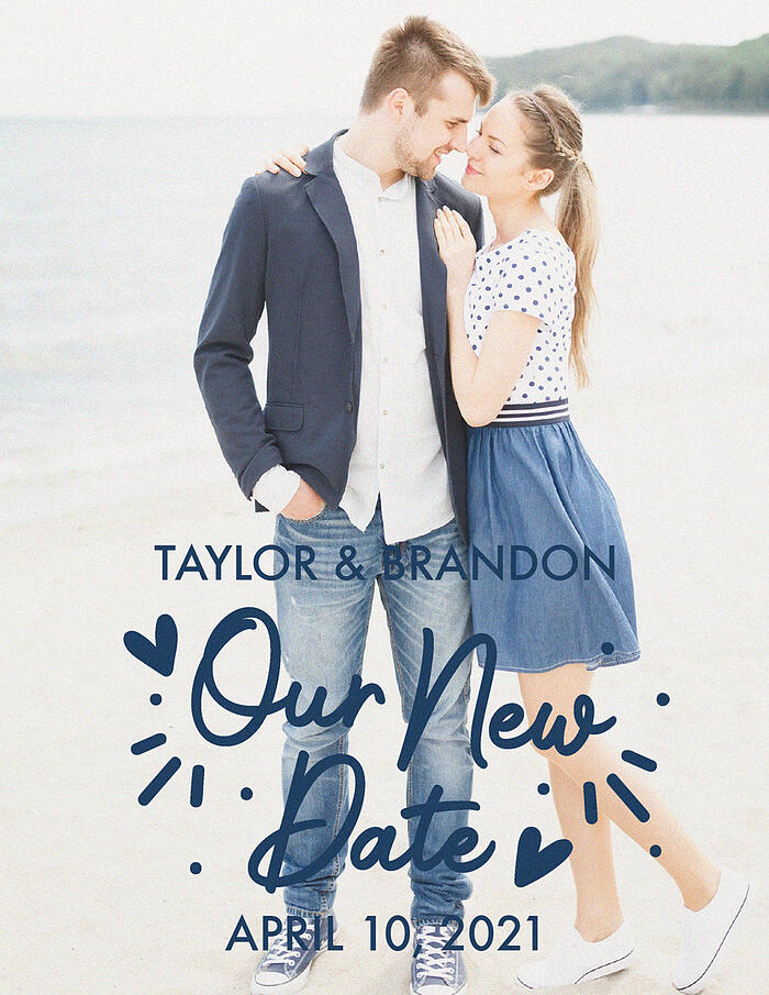 Our New Date | Postponement Announcement | Invitations by Wedgewood