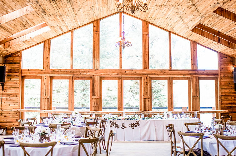Mountain View Ranch by Wedgewood Weddings Reception Space