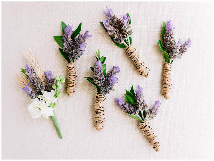 A Love's In Bloom - Lavender Boutonnieres