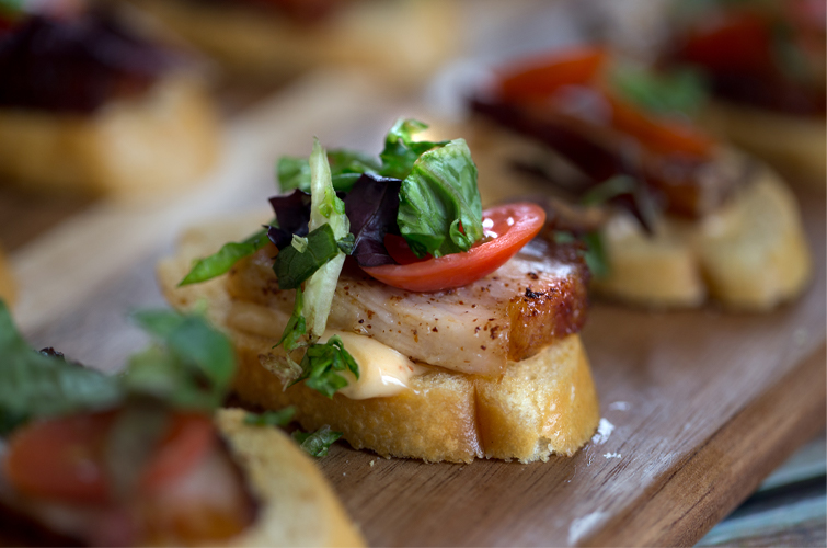 Ahi Tuna Bruschetta Wedding Menu Options - Wedegwood Weddings & Events