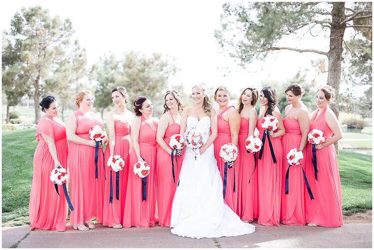 Bridal Party by Aly Kirk - Ocotillo Oasis by Wedgewood Weddings