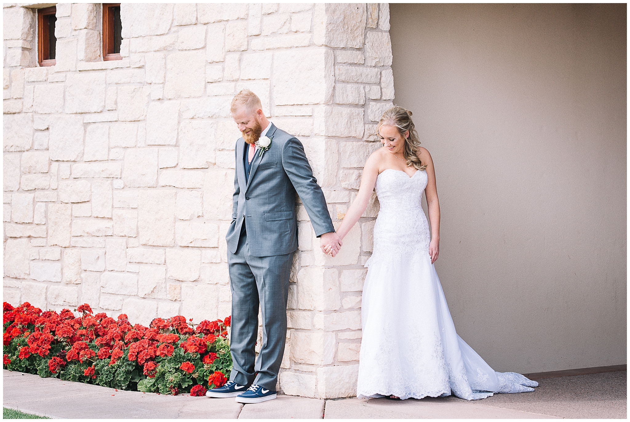 First Look Photo by Aly Kirk - Ocotillo Oasis by Wedgewood Weddings