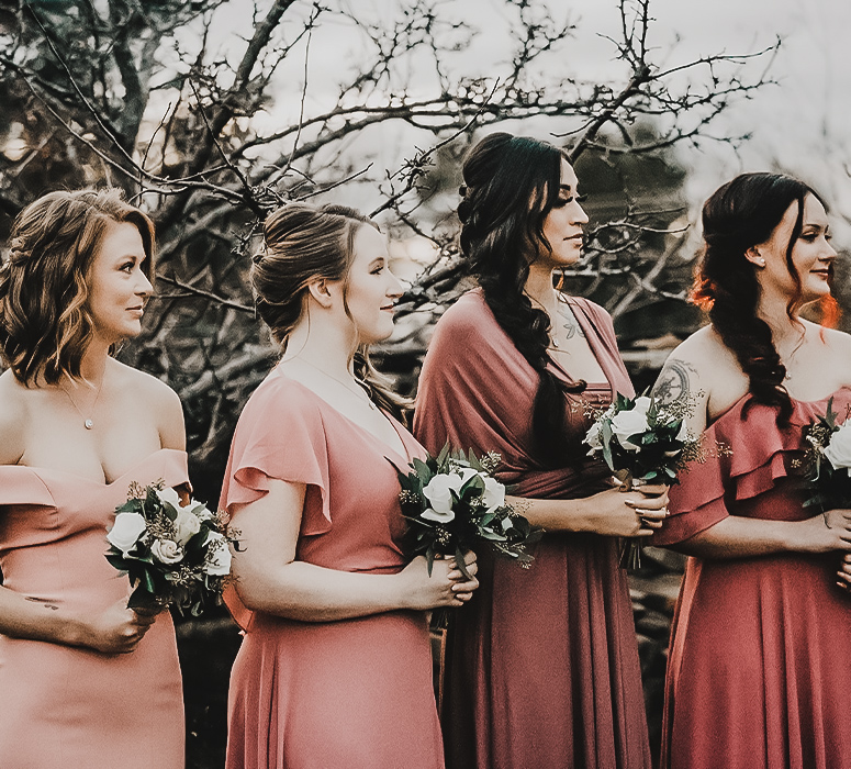 Bridesmaids Swooning Over the Happy Couples Love at Granite Rose