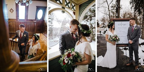 Bride & Groom - Tapestry House - LaPorte, Colorado - Larimer County - Wedgewood Weddings