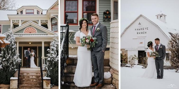 Bride & Groom - Tapestry House - LaPorte, Colorado - Larimer County - Wedgewood Weddings