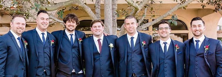 Kent and his groomsmen at Sterling Hills by Wedgewood Weddings
