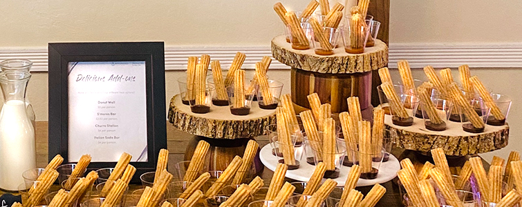 Churros Bar - Wedding Menu Options - Wedegwood Weddings & Events