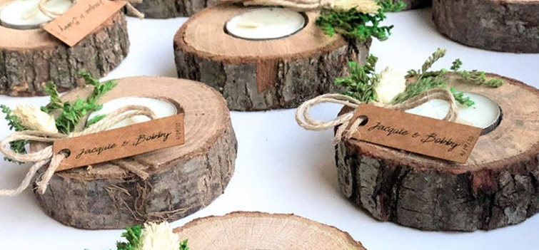 Custom Candle Wedding Favors