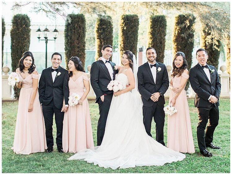 David & Wynne's Beautiful Bridal Party at Jefferson St Mansion