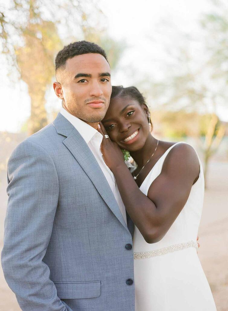 Enyo & Etienne - The Glowing Couple of This Unique Modern & Multicultural Wedding in Arizona