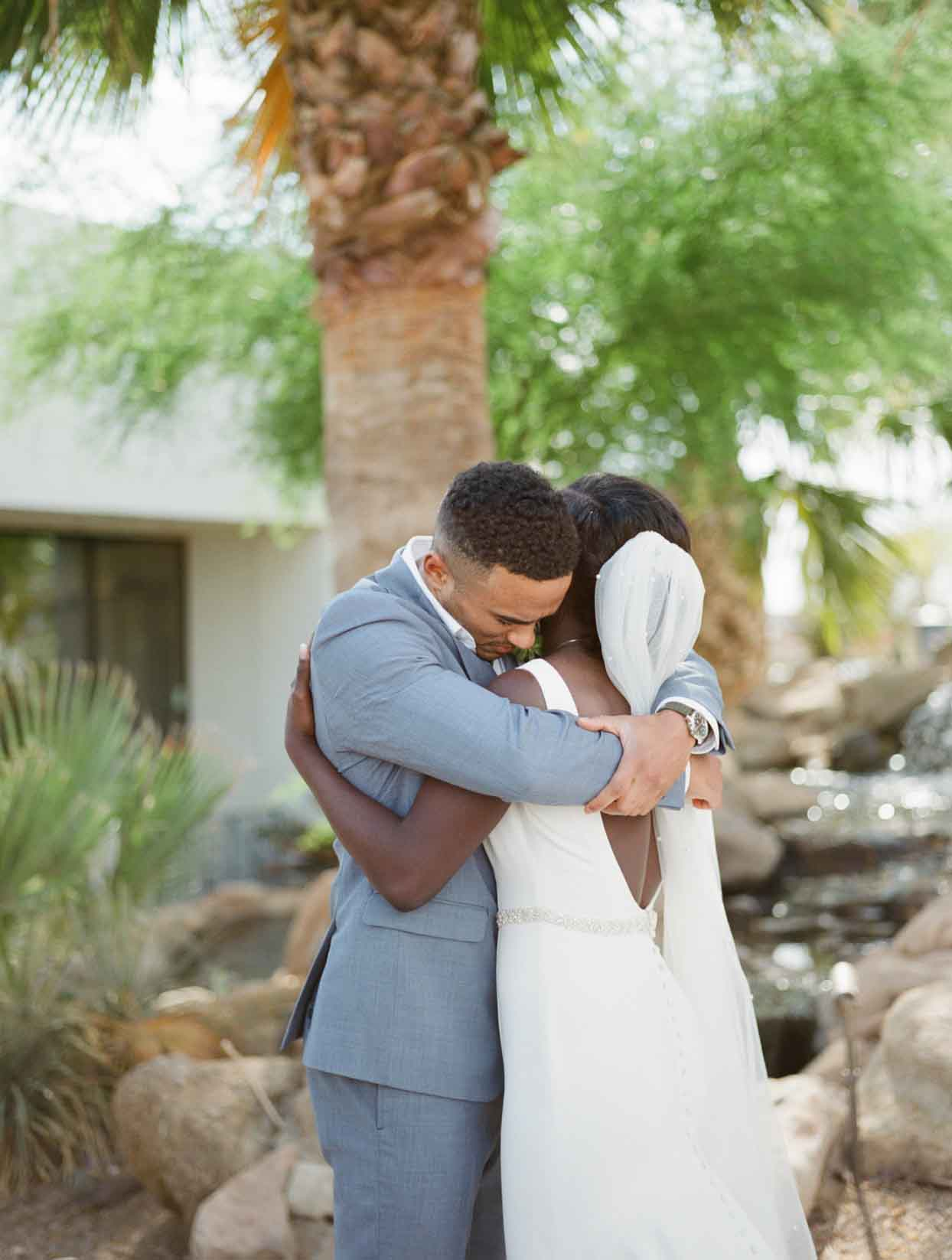 The Couple Opted For a Combo First Look and Private Vow Ceremony