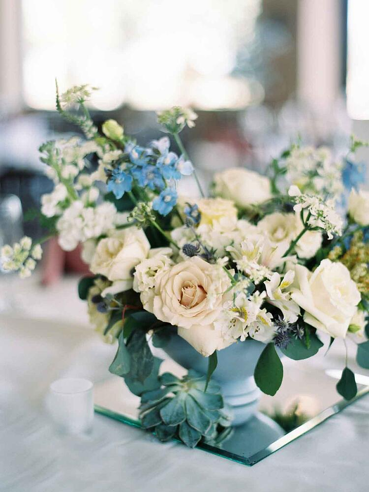 Incredible Blue and White Flowers Arranged by Victorian Gardens