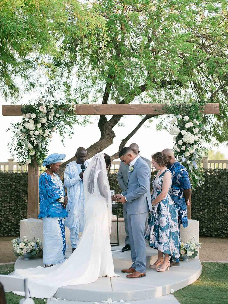The Wedding Ceremony Featured Prayer and Religious Traditions