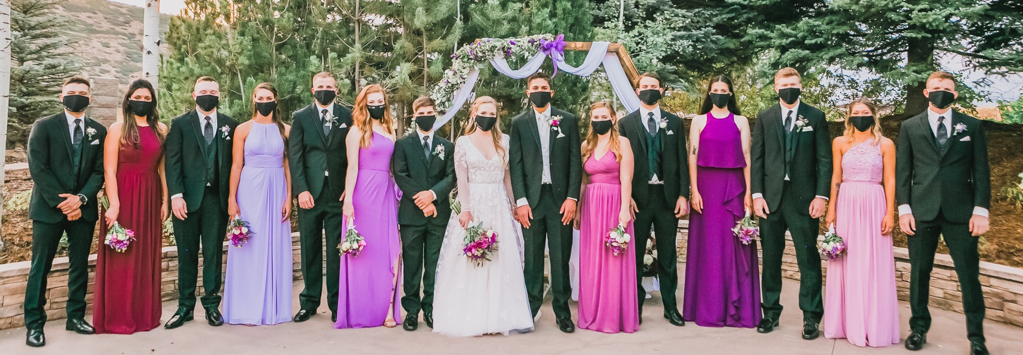 2020 Wedding Wearing Masks are Required