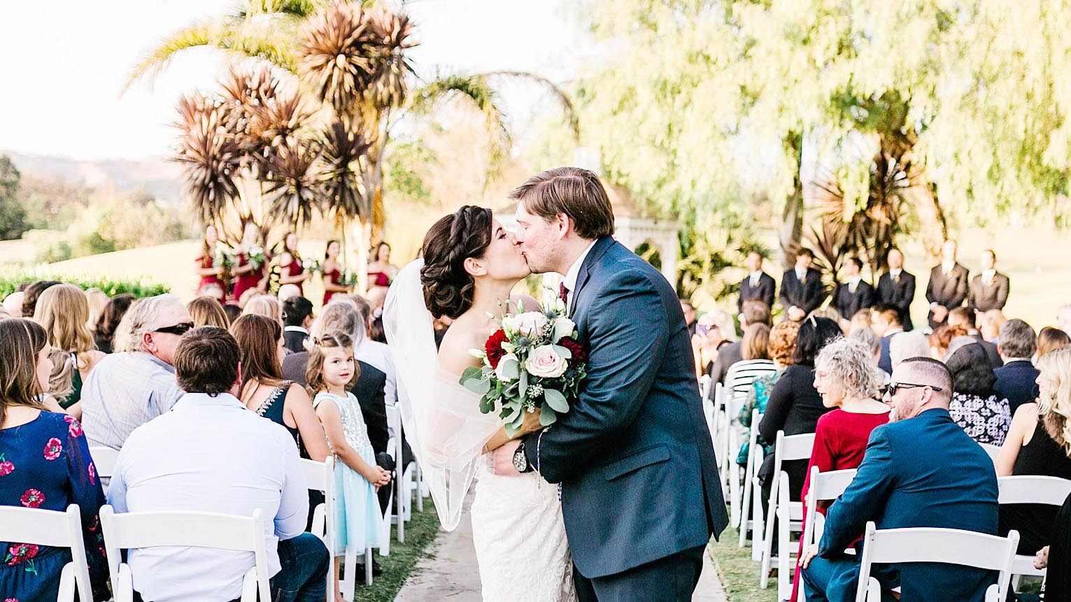 Beautiful Fall Wedding Ceremony in Ventura County