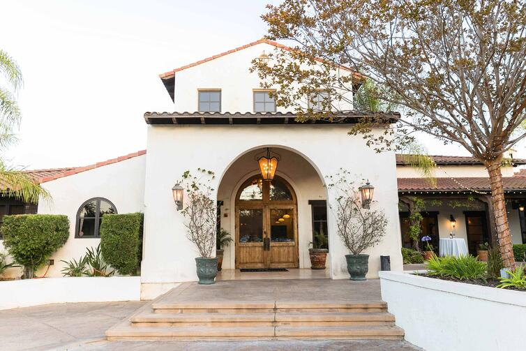 Grand Entryway of Fallbrook Estate by Wedgewood Weddings