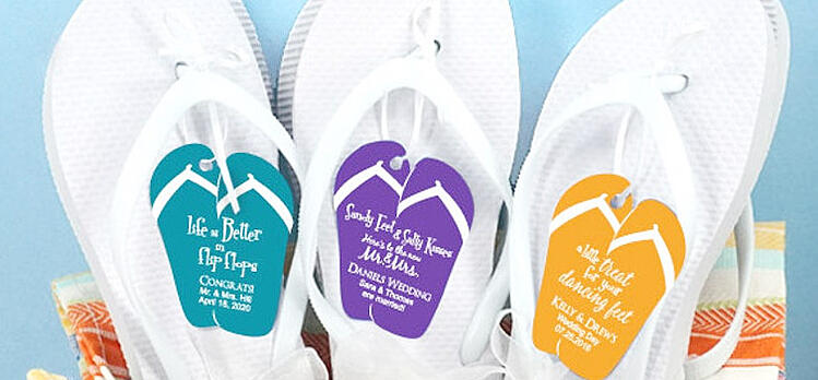 Flip-flop wedding favors