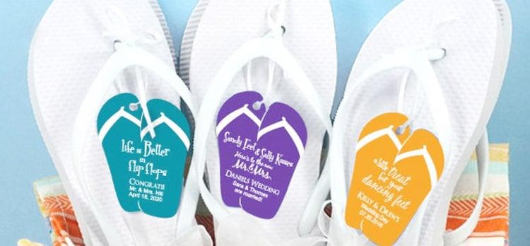 Flip-flop wedding favors