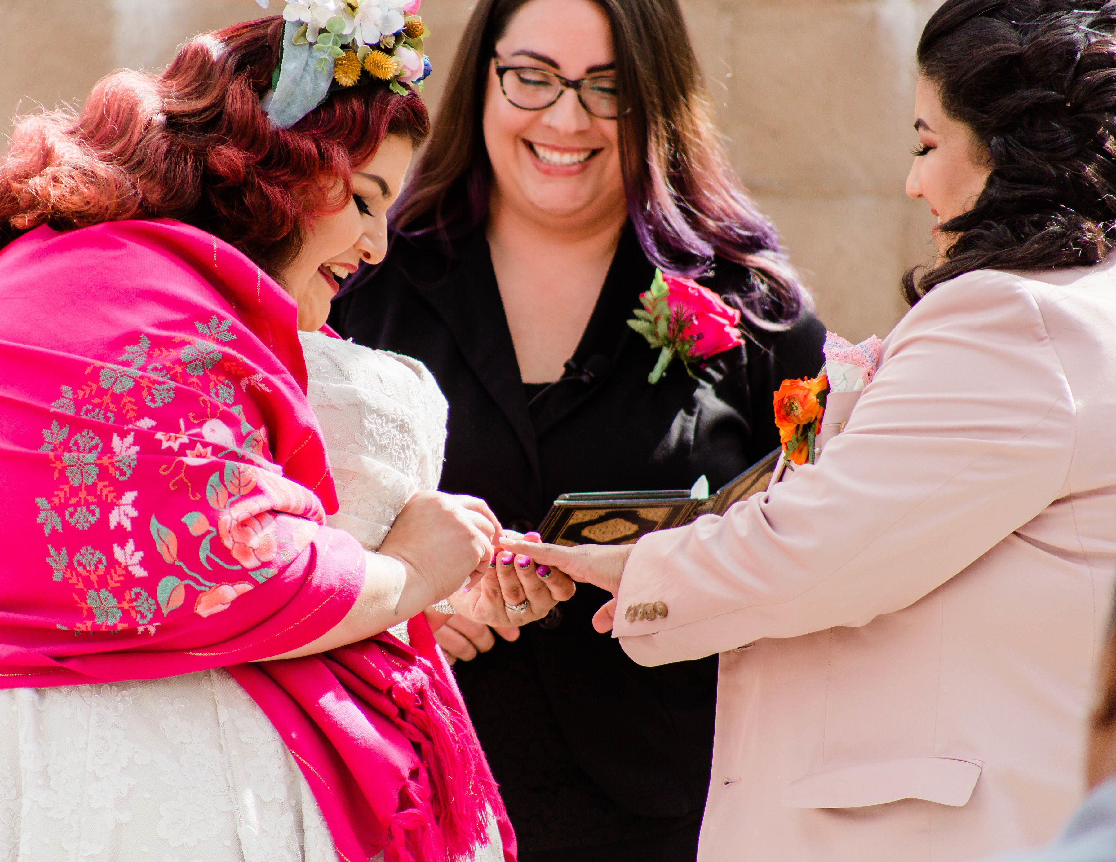 Beautiful Gay Frida-Themed Wedding with Minister Marie