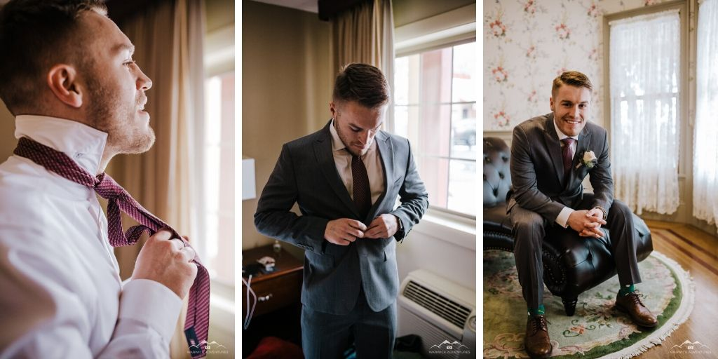 Groom Getting Ready - Tapestry House - LaPorte, Colorado - Larimer County - Wedgewood Weddings