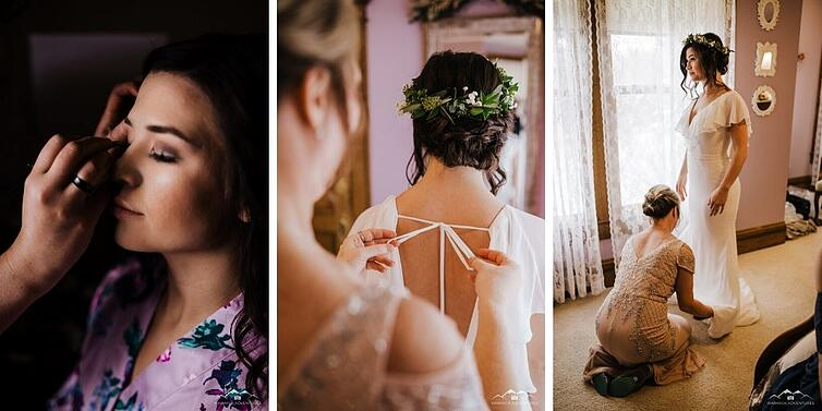 Bride Getting Ready - Tapestry House - LaPorte, Colorado - Larimer County - Wedgewood Weddings