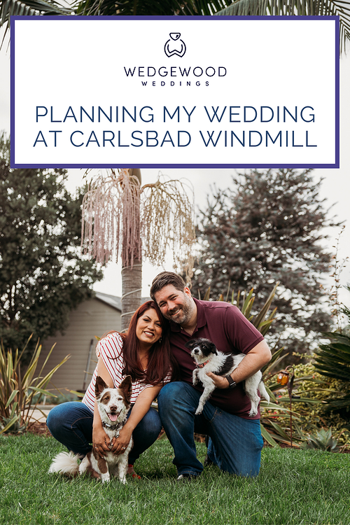 """Meet the Andersons! Tania and Kirk's relationship is the definition of """"opposites attract"""", and they are honestly the sweetest couple you'll ever meet. This is the story of how they came to choose their wedding venue, the Carlsbad Windmill by Wedgewood Weddings. With bold contemporary styling, decades of history, and a trendy food hall on the premises, the Carlsbad Windmill is the perfect choice for couples like The Andersons who are looking for a mixture of California eclectic and modern style. Tania and Kirk are now set to get married in 2022. Read along to learn more about their venue shopping and wedding planning journey!"""