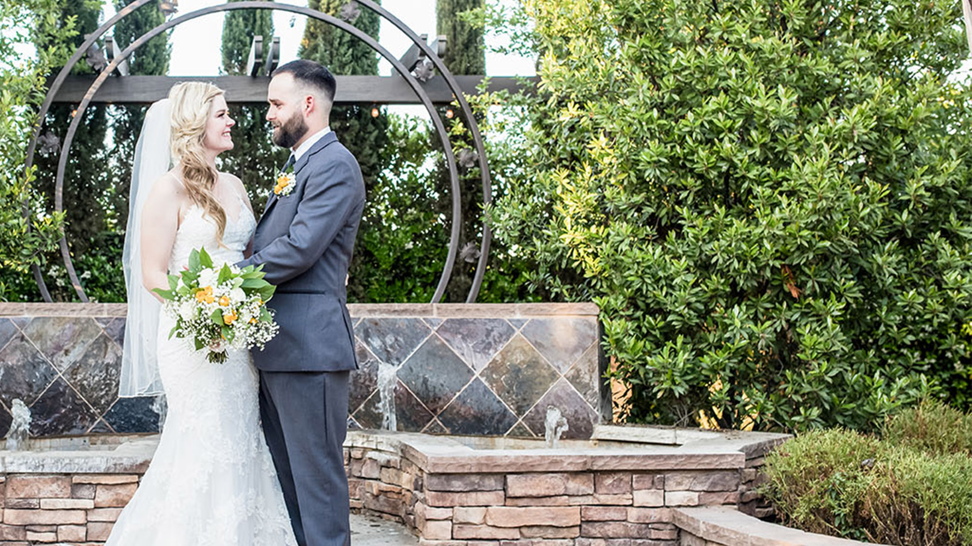 Bride and Groom in Fresno Fields by Wedgewood Weddings