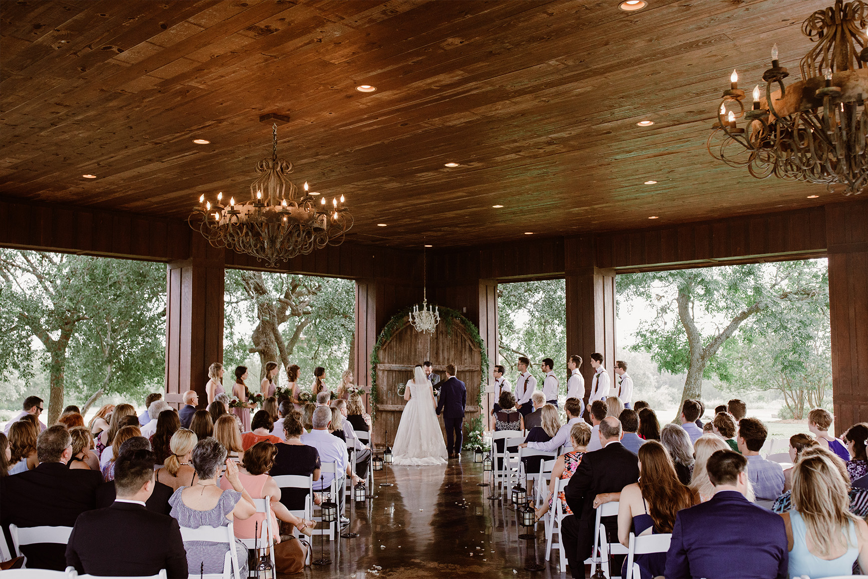 Hofmann Ranch is a Texas wedding venue with an open-air pavilion for wedding receptions
