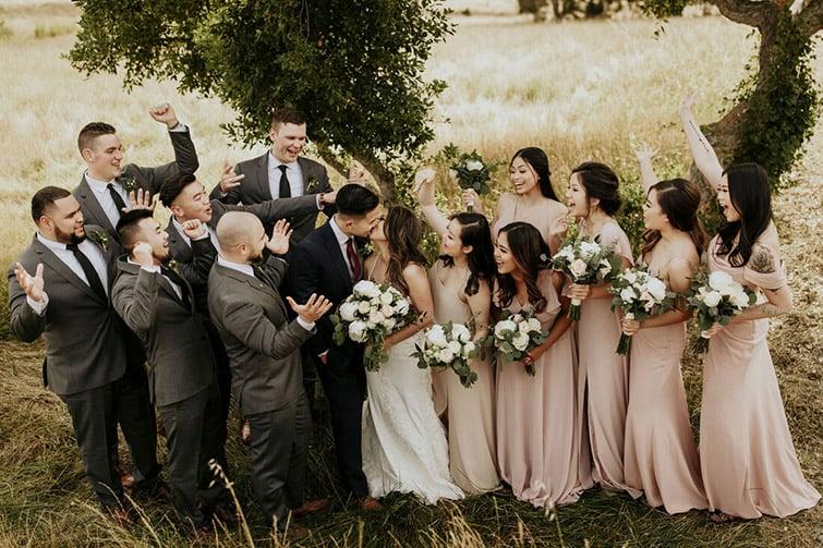 J and J Changs beautiful muted tone wedding at Boulder Ridge by Wedgewood Weddings