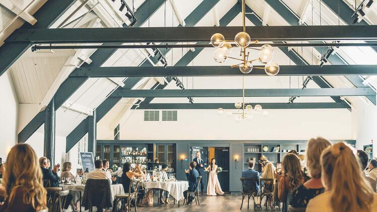 A-Frame Ballroom Wedding Reception for Jamie & Cody's Special Day | The Carlsbad Windmill | Focus On Love Photography