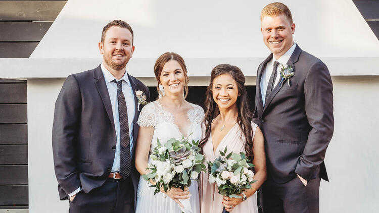 Jamie & Cody's Bridal Party | The Carlsbad Windmill | Focus On Love Photography