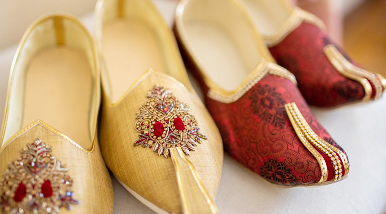 Jewel and Brocade Embellished Wedding Shoes- the Perfect Stylistic Match for Jefferson Street Mansion by Wedgewood Weddings