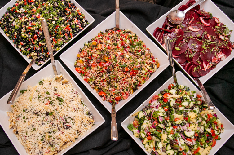 Impressive Salad Options from the Buffet
