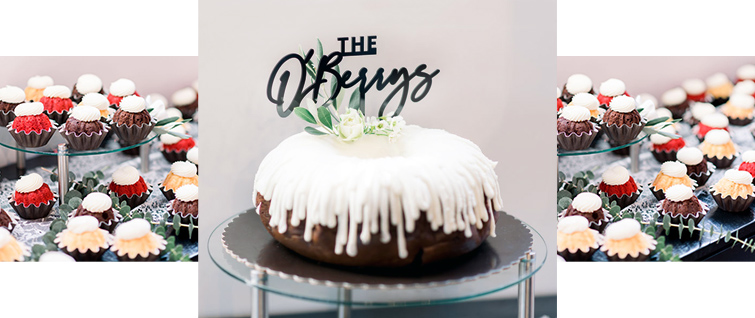 Katie and Joshs Bundt Wedding Cake -  Carlsbad Windmill by Wedgewood Weddings