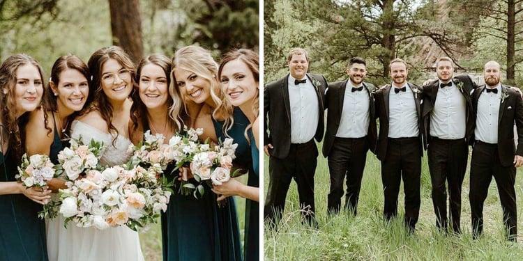 Wedding Party: Romantic Creekside Summer Wedding at Boulder Creek